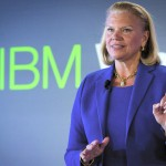 """IBM chairwoman and CEO Virginia """"Ginni"""" Rometty speaks at an IBM Watson conference in Manhattan on Jan. 9."""
