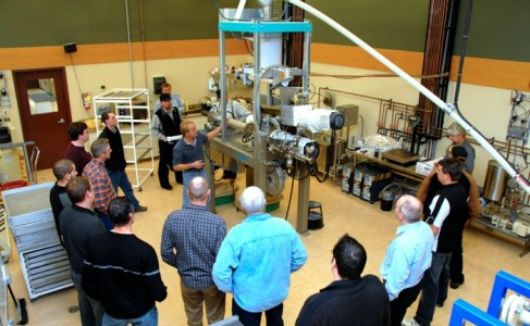 A group of farmers taking a tour of Cigi in 2010
