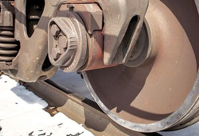 steel railcar wheel