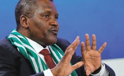 Aliko Dangote, president and chief executive officer of Dangote Group