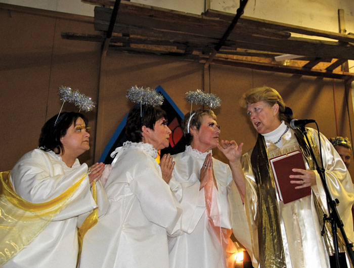 actors in a Christmas play