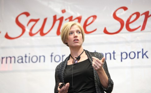 woman speaking at a seminar