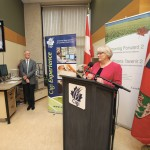Cigi CEO JoAnne Buth speaks during a funding announcement.