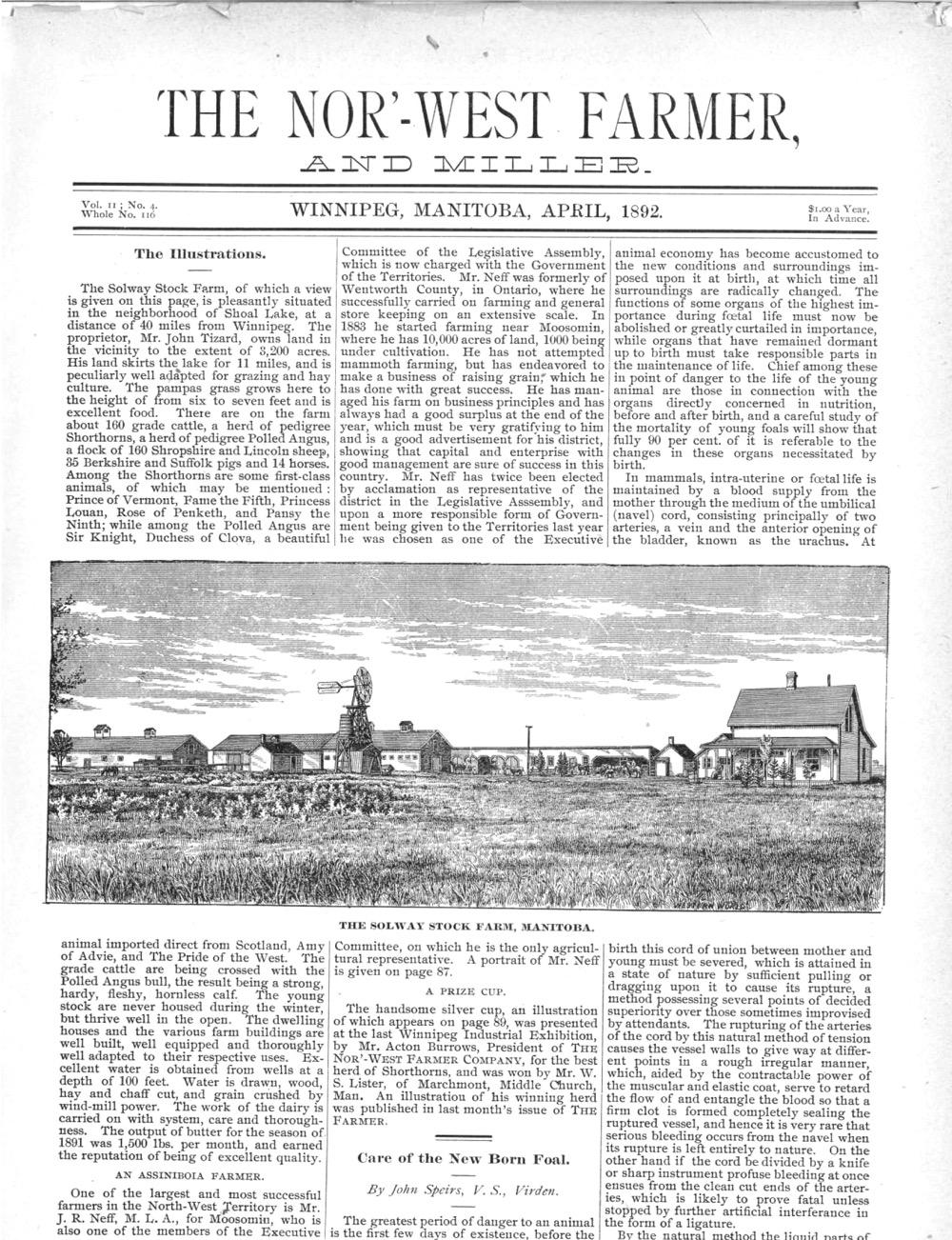 antique newspaper article