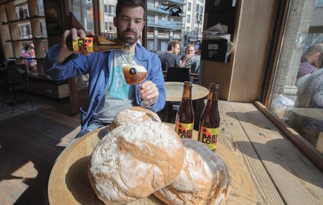man making bread