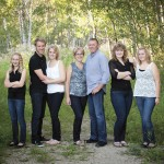 The Friesen family (l to r) Jocelyn, Justin and Alyssa Sawatsky, Kathy, Ed, Loralie, and Janelle are the Red River Exhibition's 2015 Farm Family of the Year.
