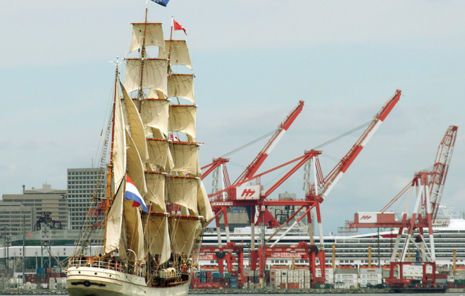 The Port of Halifax sees more tall ships than grain ships these days, but as home to the country's last grain elevator on the eastern shores, some believe more grain may move by container as the CETA deal comes into effect.