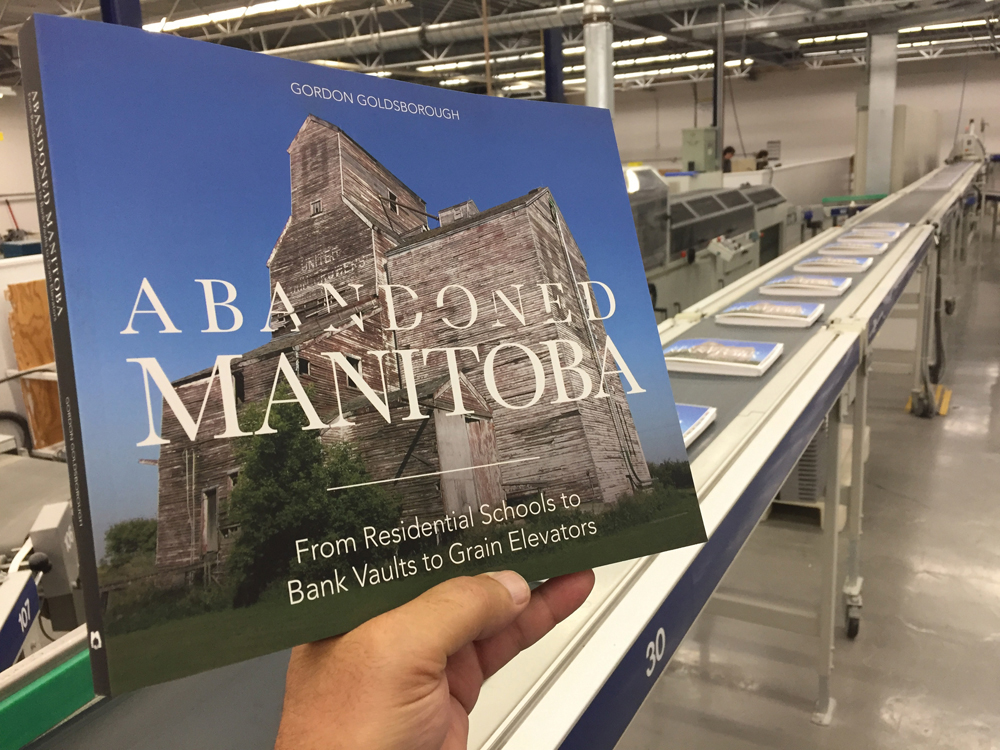 The first copy of Manitoba historian Gordon Goldsborough's new book off the press.