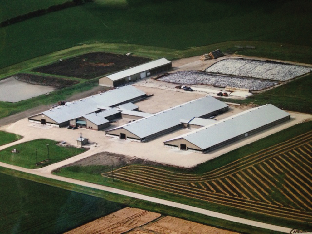 Rosser Holsteins, located west of Winnipeg, covers 2,500 acres and has 500 dairy cows.
