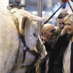 Marine Le Pen, French National Front (FN) political party leader and candidate for France's 2017 presidential election, visits the International Agricultural Show in Paris on Feb. 28.