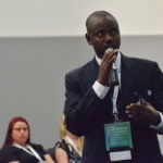 Ousman Sonko presents to Global 4-H Summit attendees. The summit ran July 11-14, 2017, 