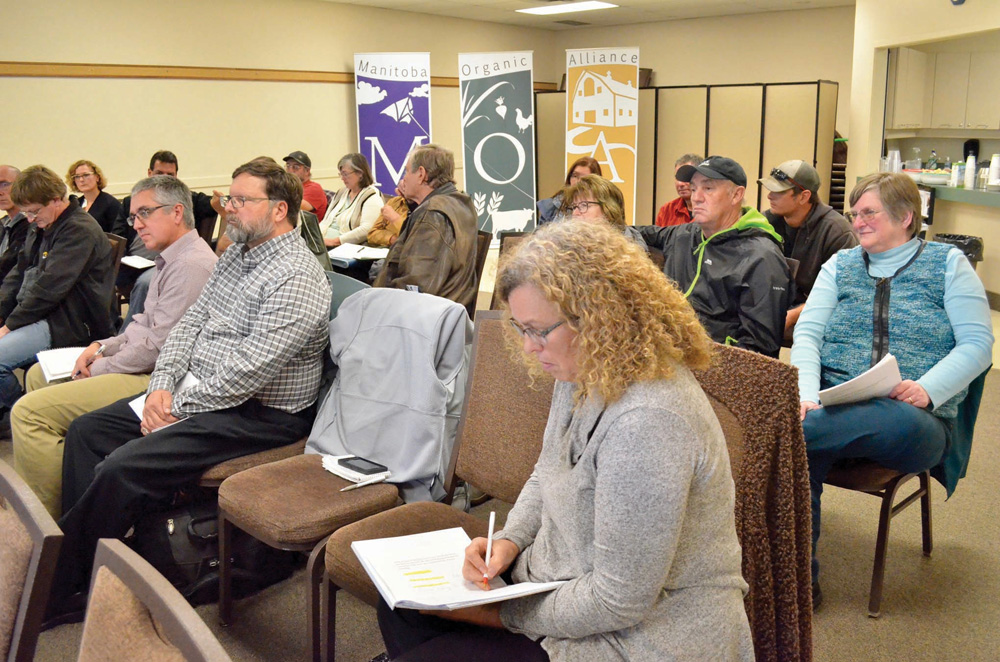 The Manitoba Organic Alliance announced the working group Oct. 23 during its annual meeting in Brandon.