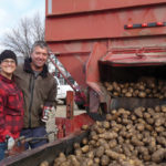 Mark and Yanara Peters say a community potato giveaway has been fun and fulfilling.