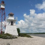 One popular hike is out on the peninsula to view the lighthouses.