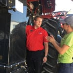 Clinic attendees get into the fine details of combines during a July 13 clinic in Neepawa.