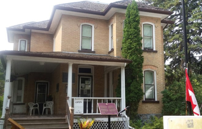 The house in Neepawa where Margaret Laurence lived from 1935 to 1944.