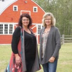 Sisters Tracy Wood(l) and Taralea Simpson(r) say their new farm-stay 