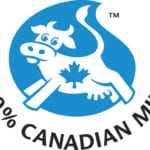 One way Canadian consumer will differentiate Canadian dairy in the marketplace is through the blue cow logo seen here.