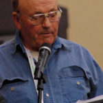 Fred Tait argues for MBP to take action towards written permission for hunters during the Manitoba Beef Producers annual general meeting Feb. 7 in Brandon.