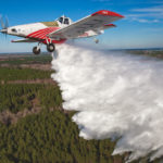 This crop-duster is a dual-purpose firefighting machine.