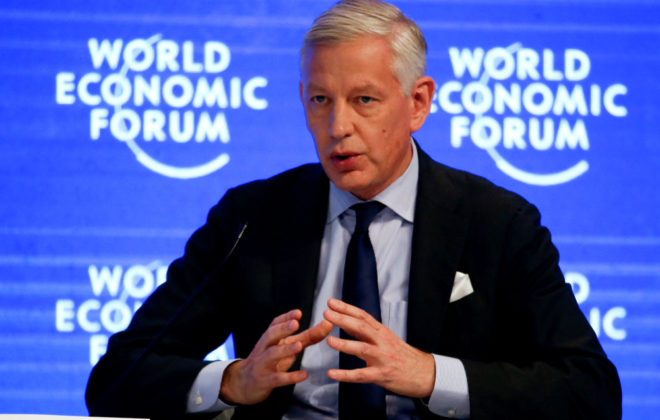DominicBarton, Global Managing Partner, McKinsey & Company, attends the annual meeting of the World Economic Forum in Davos, Switzerland, January 18, 2017.