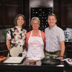 Host Dez Daniels, Susan Riese (Manitoba Pork), and Aaron Alblas (Manitoba Liquor Mart).