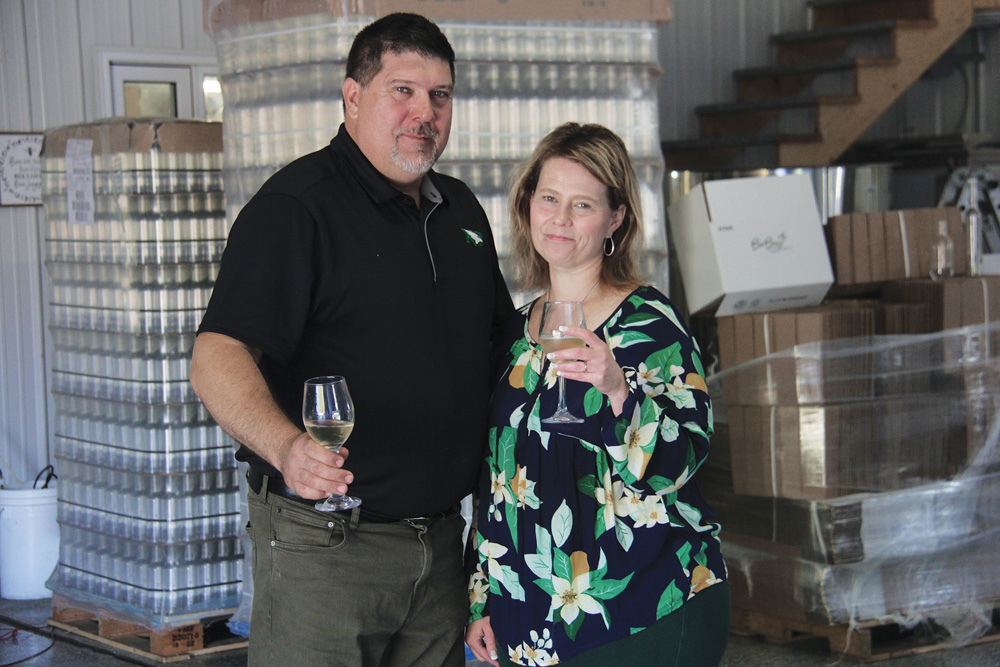 Kon and Julie Paseschnikoff are excited about the pending release of their first bottling of mead this year.
