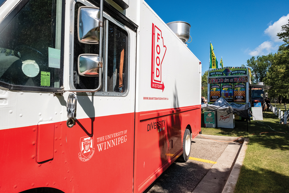 "The Manitoba Food History Project ""food truck"" has travelled to Steinbach, Altona, St. Norbert and Dauphin, allowing the researchers to conduct interviews and cook food with people all over the province."