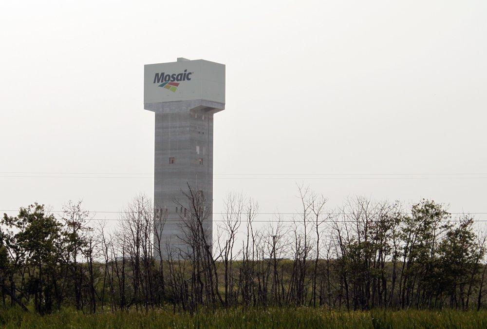 Tower structure at one of Mosaic's potash mines near Esterhazy, Sask.  (Greg Berg photo)