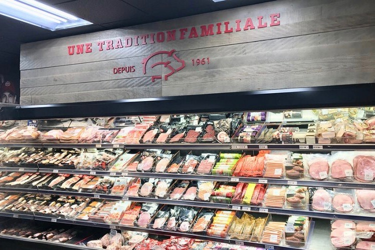 F. Menard's retail butcher shop at Ange-Gardien underwent a major renovation in July 2018. (FMenard.com)