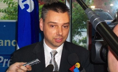 Andre Bellavance, shown here circa 2008, has formally entered this month's contest for the leadership of the Bloc Quebecois. (AndreBellavance.qc.ca)