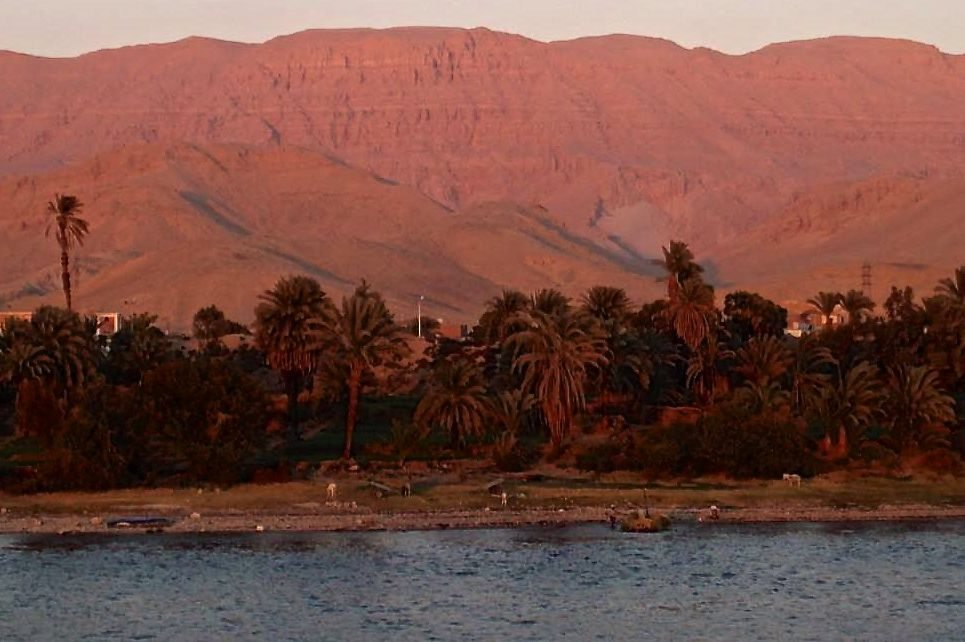 Sunset in Egypt on the Nile River south of Luxor. (CIA.gov)
