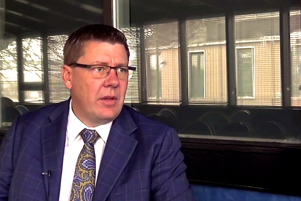 Scott Moe discusses plans to lift the PST off insurance premiums in a Canadian Taxpayers Federation video. (CTF video screengrab via YouTube)