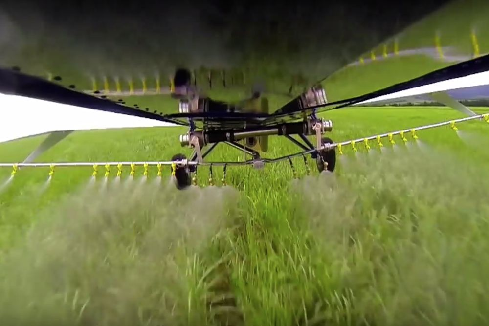Aviation firms report Brazil's use of crop dusters to be rising at a rate of three per cent per year. (Embraer video screengrab via YouTube)