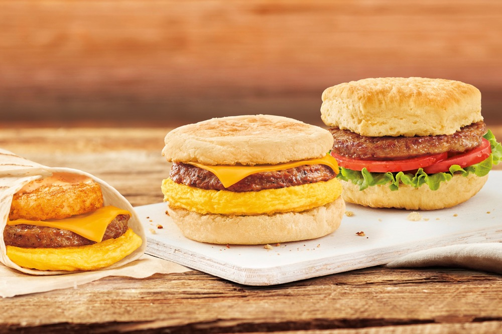 Tim Hortons is testing three plant-based breakfast sandwich options in the Canadian market. (CNW Group/Tim Hortons)