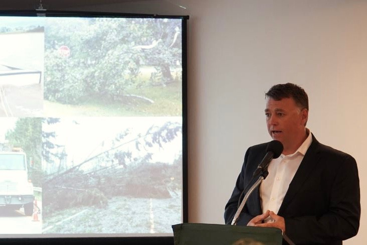 P.E.I. Premier Dennis King speaks Sept. 9, 2019 during an update on effects from Hurricane Dorian. (PrinceEdwardIsland.ca)