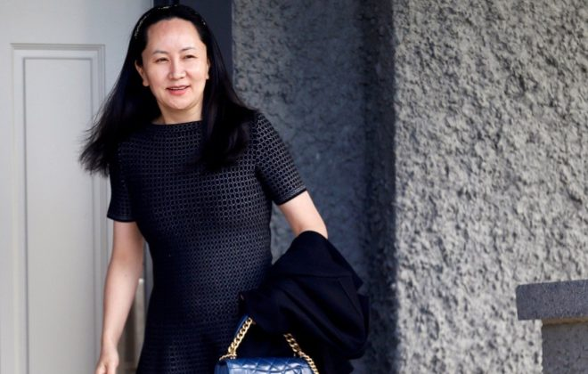 Huawei chief financial officer Meng Wanzhou leaves her family home in Vancouver in this May 8, 2019 file photo. (Photo: Reuters/Lindsey Wasson)