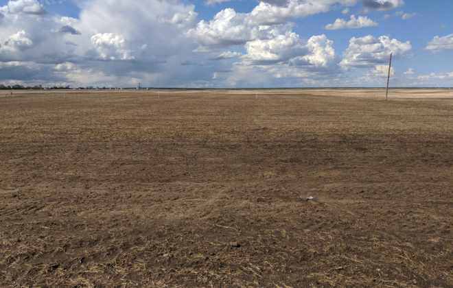 A shot of the 180 acres being used in the variable rate fertility project.