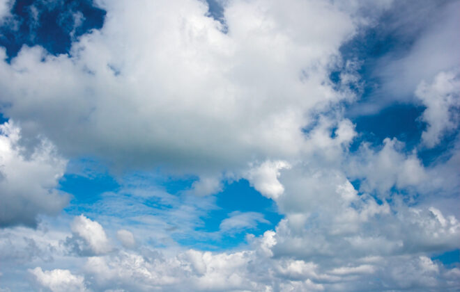 Cloud droplets are small enough to fall at a rate of about a centimetre per second, so it doesn't take much of an updraft to keep them airborne.