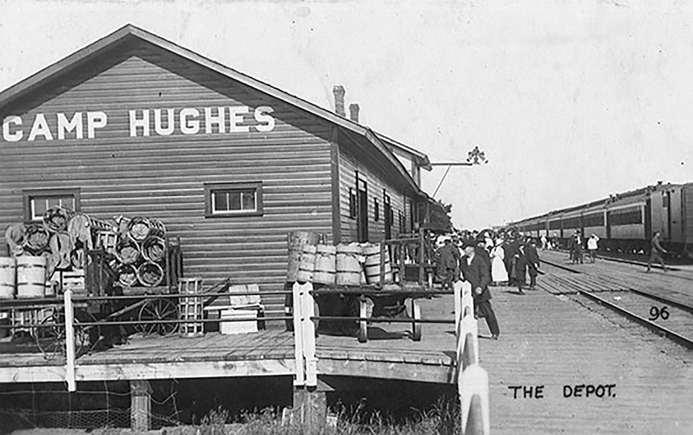 During the First World War Camp Hughes became a bustling mini community.