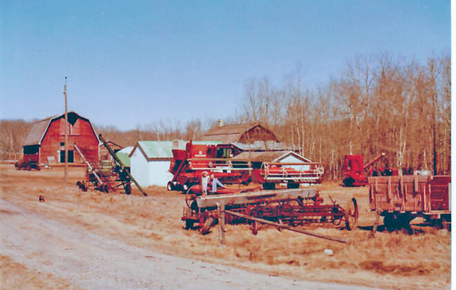 The Kihn farm, near Basswood, prior to the 1978 liquidation auction.