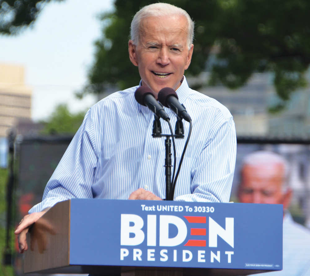 U.S. president-elect Joe Biden, seen here at the rally kicking off his campaign in May 2019.