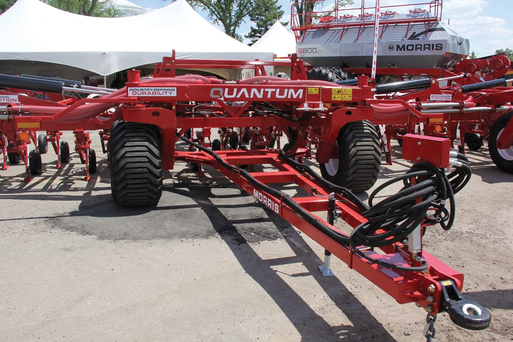 Morris' Quantum Air Drill had its first public appearance at Canada's Farm Progress Show and its formal launch at Ag in Motion in 2018. (Grainews photo by Scott Garvey)