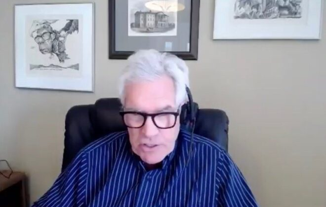 Winnipeg South Centre MP Jim Carr speaks to the Canadian Crops Virtual Convention on March 2, 2021. (CCVC video screengrab)