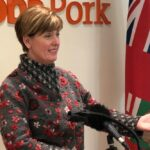 Federal Agriculture Minister Marie-Claude Bibeau speaks to media in Winnipeg on Feb. 13, 2020. (Dave Bedard photo)