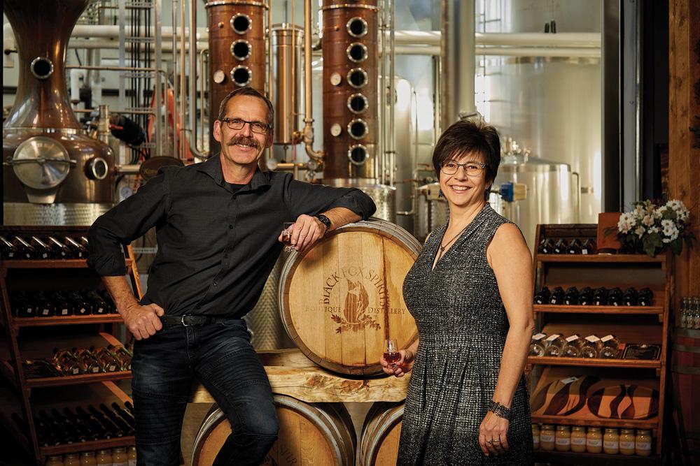 Barb Stefanyshyn-Cote and husband John own Black Fox Farm and Distillery near Saskatoon.