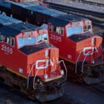 CN locomotives in Winnipeg. (Photo courtesy CN)