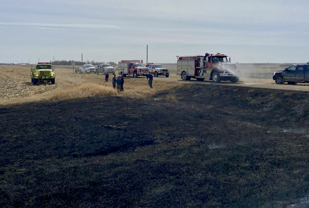 In recent weeks the Oakland-Wawanesa Fire Department has been called to two fires started by haying equipment.